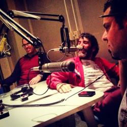 Los Psiconautas en el estudio.