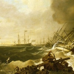 a-painting-of-the-battle-of-quiberon-bay-21-november-1759