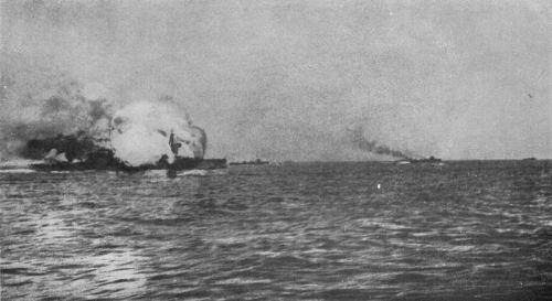 HMS Invicible Blowing Up at Jutland