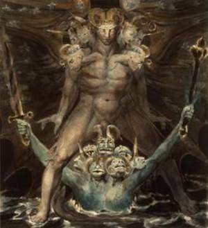 The Great Red Dragon and The Beast from The Sea -William Blake