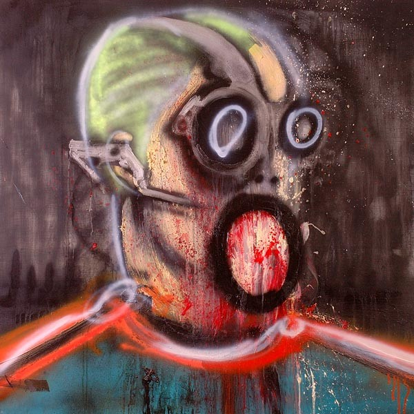 CYBORG_I-2005-Oil-and-spray-paint-on-canvas-100-x-100-cm