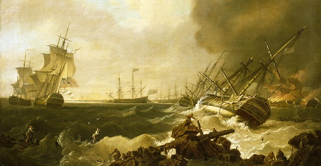 Decisive naval encounter: A painting of The Battle of Quiberon Bay, 21 November 1759